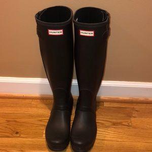Hunter Rain Boots Original Tall Black Size 8